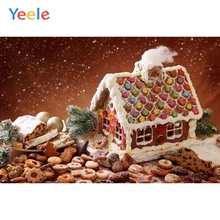 Yeele Christmas Party Photocall Biscuits Chalet Nut Photography Backdrops Personalized Photographic Backgrounds For Photo Studio