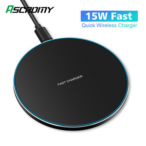 Image 1 - 15W Wireless Charger Pad For Samsung Note 10 9 S10 Plus Huawei Xiaomi iPhone 11 Pro X XS Max XR 8 10W QI Fast Induction Charging