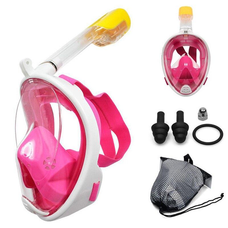 Full Face Snorkeling Mask Adult Kid Anti-Fog Snorkeling Mask Underwater Scuba Swimming Mask Glasses Snorkel Dive Equipment