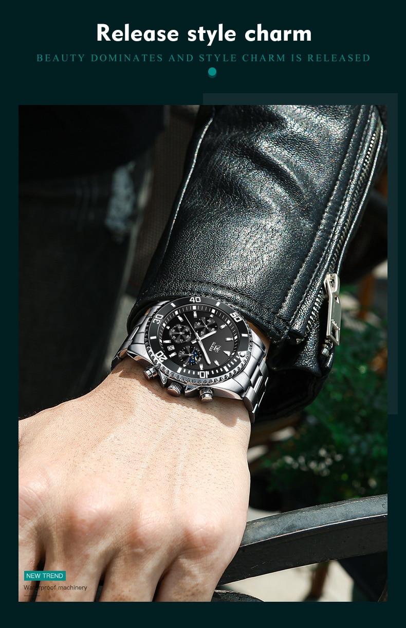 OLEVS 2870 Waterproof Stainless Steel Casual Watch 11