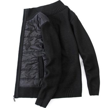 2020 jesień zima mężczyźni wiatroszczelne swetry męskie swetry rozpinane z zamkiem Slim Fit mężczyźni swetry swetry Casual ciepłe swetry tanie i dobre opinie FAVOCENT zipper Standardowy wełny 07142020 Poliester Patchwork MANDARIN COLLAR Na co dzień Kieszenie Komputery dzianiny