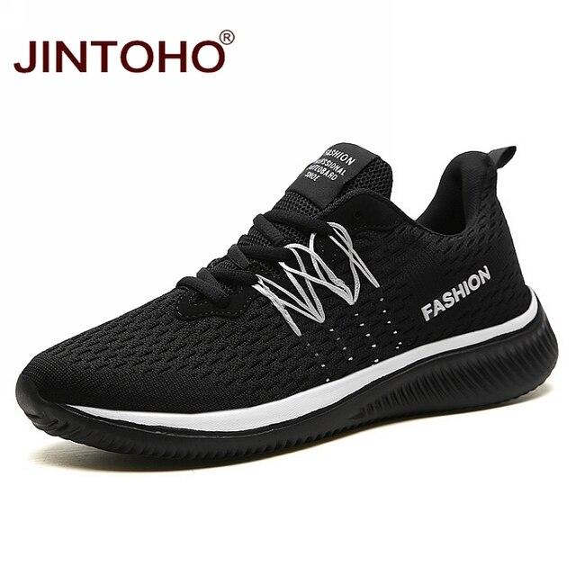JINTOHO Big Size Unisex Sneakers Fashion Casual Shoes Breathable Shoes For Men Cheap Men Sneakers Band Male Shoes Men Shose