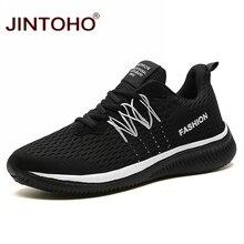 Jintoho 빅 사이즈 유니섹스 스니커즈 패션 캐주얼 신발 남성용 통기성 신발 저렴한 남성 운동화 밴드 남성 신발 남성 신발