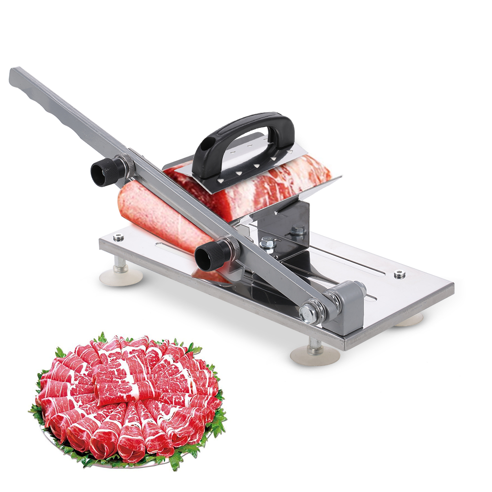 Stainless Manual Frozen Meat Slicer Beef Mutton Food Roll Cutter Slicing Machine