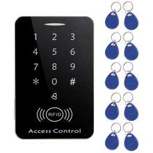 M203SE RFID автономный экрана касания читателя карточки контроля допуска с кнопочной панели Цифров ключей 10шт карточка для дома фабрики