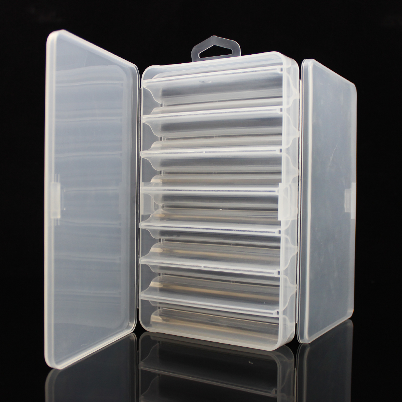 Fishing Tackle Box Double Side 14 Compartments Fishing Lure Box for Minnow Shrimp Bait Metal Spoon Lures Storage Case Container