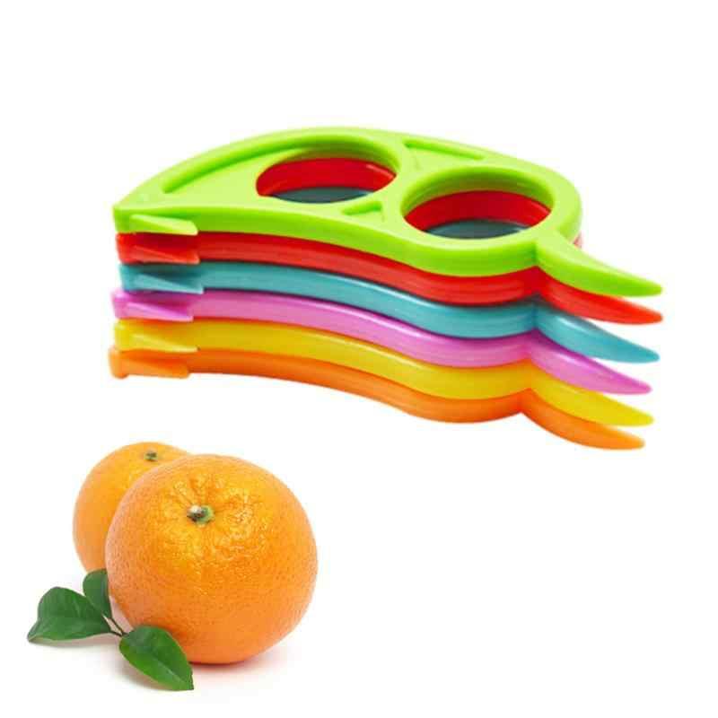Removedor de frutas de plástico slicer abridor cortador laranja peelers zesters limão citrus rapidamente descascar cozinha ferramenta gadgets