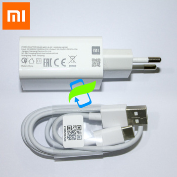 Original Xiaomi USB Fast Charger 18W Quick Adapter Type-C Data Cable For Mi 6 8 9 SE T Max Mix 3 F1 Lite Redmi K20 Note 7 Pro 9S