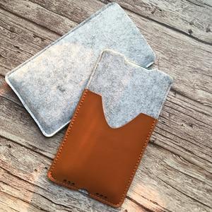 Image 5 - Telefon Tasche, für Samsung Galaxy Note10 Plus 6,8 Ultra Dünnen Handgemachten Wollfilz Telefon Hülse Abdeckung Für Galaxy Note10 Plus Zubehör