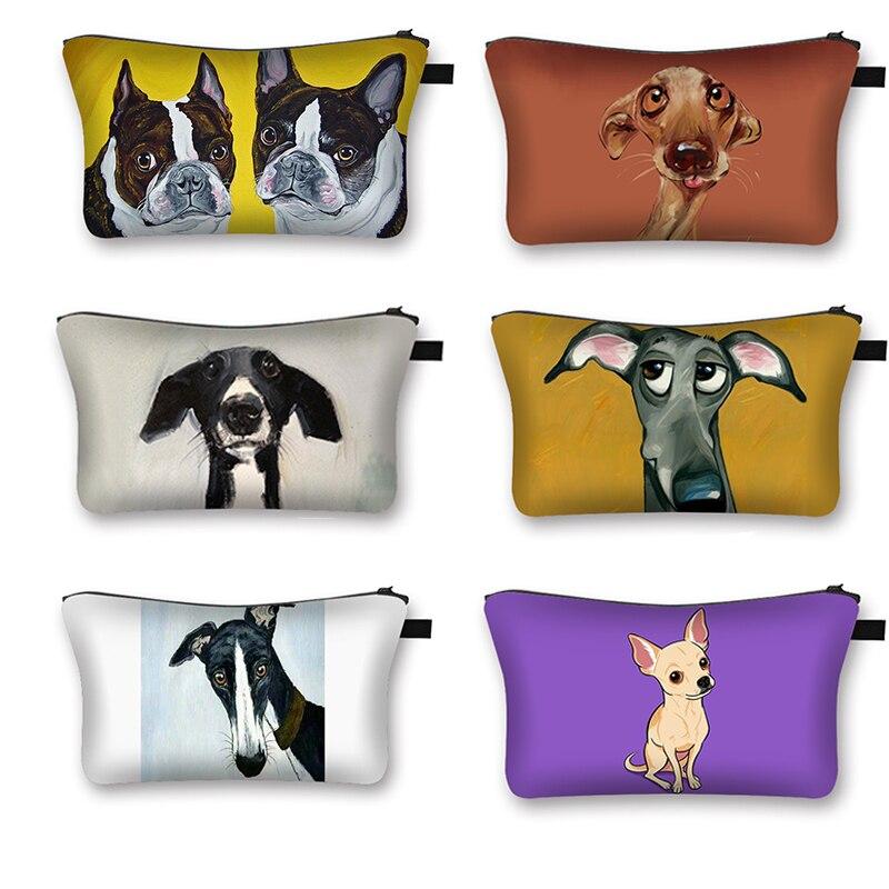 Cute Cartoon Dog Woman Cosmetic Bag Fashion Lady Makeup Bags Girl Cosmetic Case Light Travel Bag Organizer