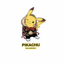 1PCS Anime Pikachu Icoon warmtegevoelige Applique Voor Kinderen DIY T-shirt Pokemon Patch Thermische Transfer Printen Ijzer Op accessoires(China)