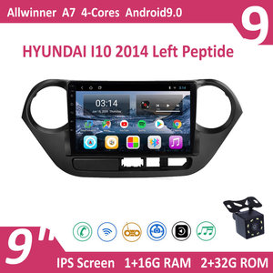 9'' IPS Android 9 HYUNDAI I10 2014 Left Peptide Car Radio Multimedia GPS Navigation Navi Player Auto Stereo WIFI