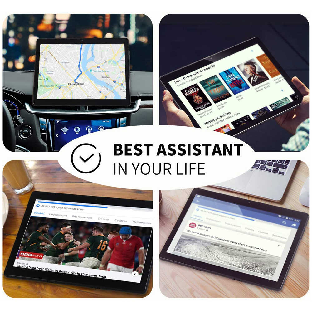 10 inch tablet PC Octa Core 3GB RAM 32GB ROM 4G LTE Telefon Anruf Google Android 9 pie 5G wifi