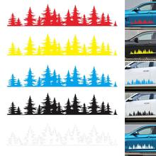 5 Colors Newest Pine Tree Forest Car Custom Vinyl Decal window Graphic Sticker Mountain Coast 2017 newest red white black colors mountain