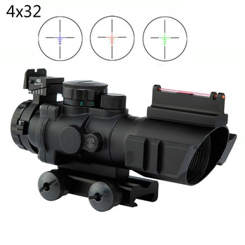4x32 Acog Riflescope 20mm Milano optics reflex tactical scope sight for hunting Rifle gun Airsoft sniper magnifier red dot