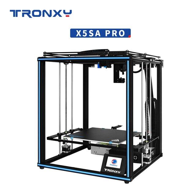Tronxy X5SA פרו 3D מדפסות לבנות צלחת 330*330*400mm TMC2225 כונן Mainboard impresoras 3d טיטאן מכבש הדפסת מקרן