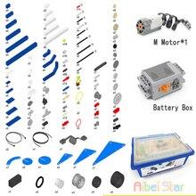 Technic совместим с 9686 DIY 9656. Детали строительных блоков. Вспомогательный набор аккумуляторной батареи двигателя для технологии MOC 9686. Совместимый набор Legoin.