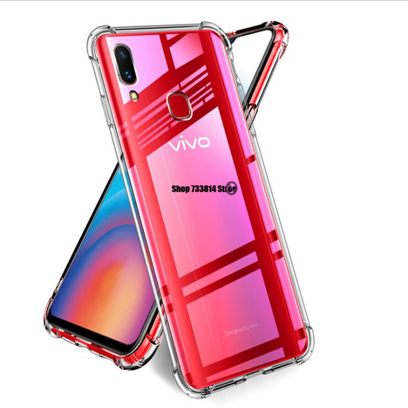 Transparent Anti-fall Cover For Y17 <font><b>Y3</b></font> Y15 Y12 U3X U10 Silicone <font><b>Case</b></font> For <font><b>Vivo</b></font> Y81 Y81S Y81i Y67 Y69 V5S Y66 Y65 Y53 V5 Lite <font><b>case</b></font> image