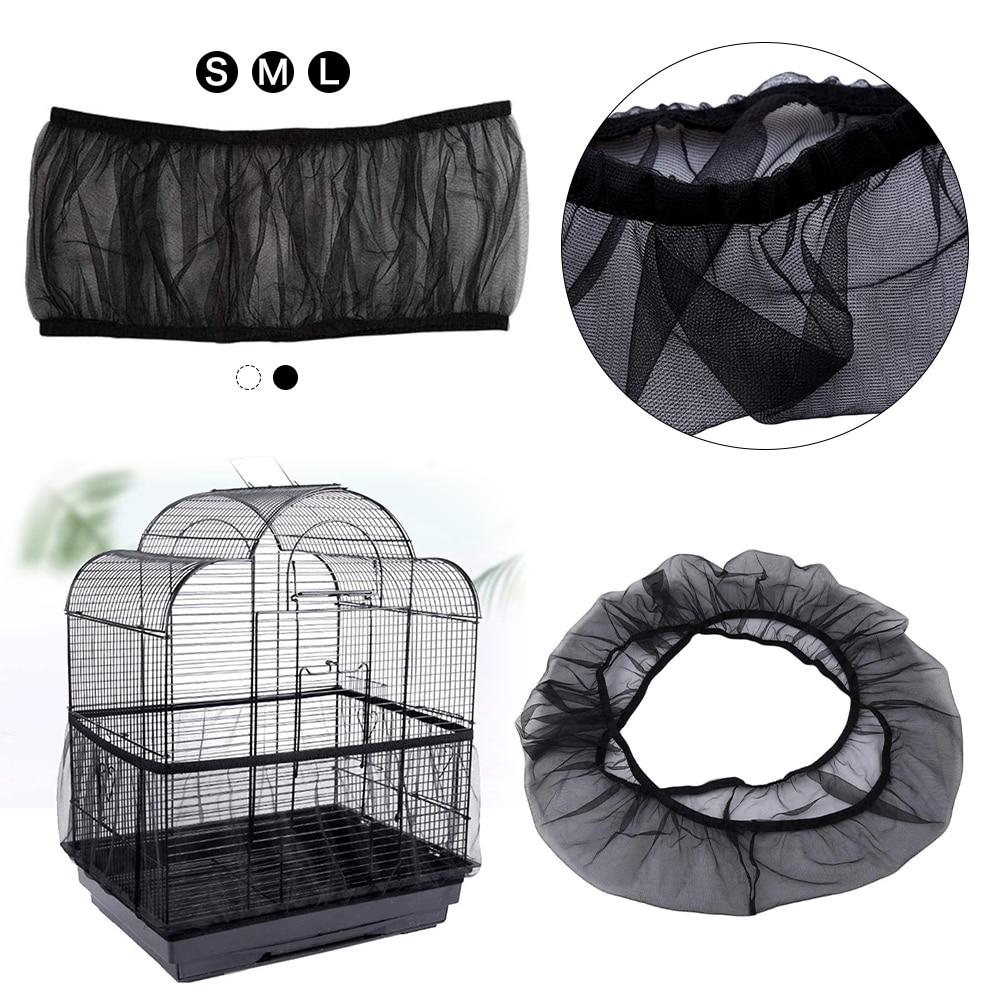 Nylon Mesh Receptor Seed Bird Parrot Cover Bird Cage Dust Cover Birds Cage Mesh Parrot Cage Cover Catcher Birds Supplies