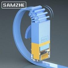 SAMZHE Cat7 Плоский Ethernet-кабель RJ45 Cat 7 Lan UTP RJ 45 кабель для совместимого патч-корда модемного маршрутизатора