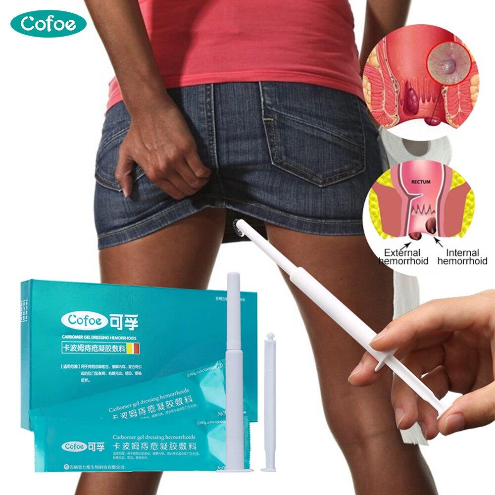 Cofoe Carbomer Haemorrhoids Gel Hemorrhoid Cream Ointment Debridement & Repair External Hemorrhoids Bleed 3g*3 Piece For Adult