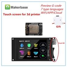 3d drucker LCD liefert MKS TFT35 touch screen + 3d drucker WI FI teil monitor 3,5 zoll LCD panel 3.5 TFT bunte display