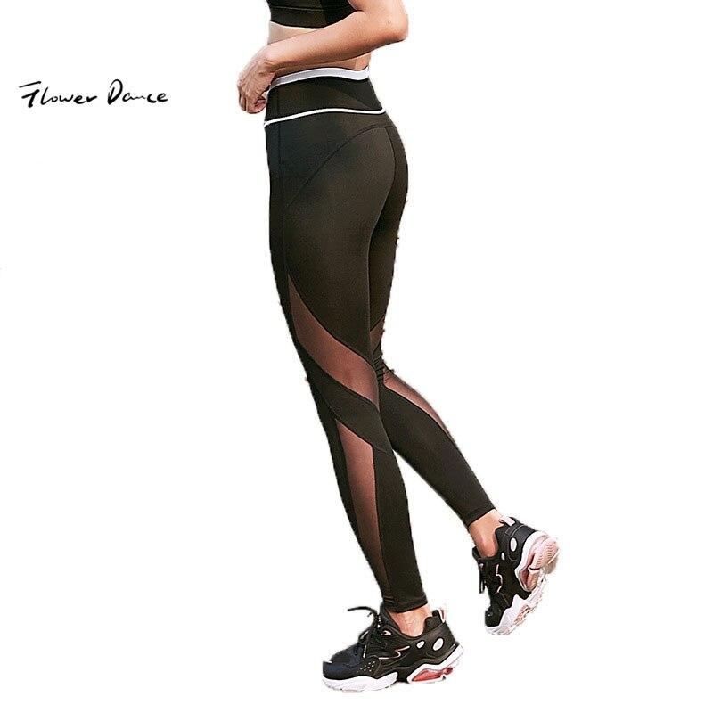 Mujeres apretado deporte el/ástica de talle alto de las Leggings