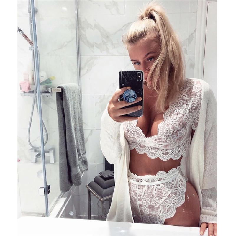 Женское сексуальное нижнее белье, прозрачный сетчатый комплект с бюстгальтером, элегантное дамское Эротическое нижнее белье, пижамы, Экзот... 15