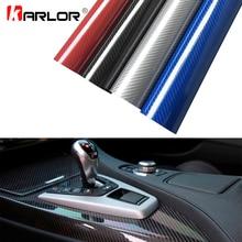 Película de revestimiento de vinilo de fibra de carbono 5D de alto brillo 30x100cm para coche, camión, Interior, decoración, bricolaje, accesorios de estilismo para coche