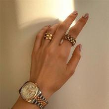 Латунь плетеный стекируемые кольца женские ювелирные изделия