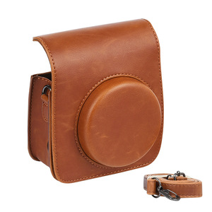 Image 5 - Protective Case Casual Pouch Accessories PU Leather Cover Dustproof Shoulder Strap Crossbody Mini Camera Bag For Instax Mini 90
