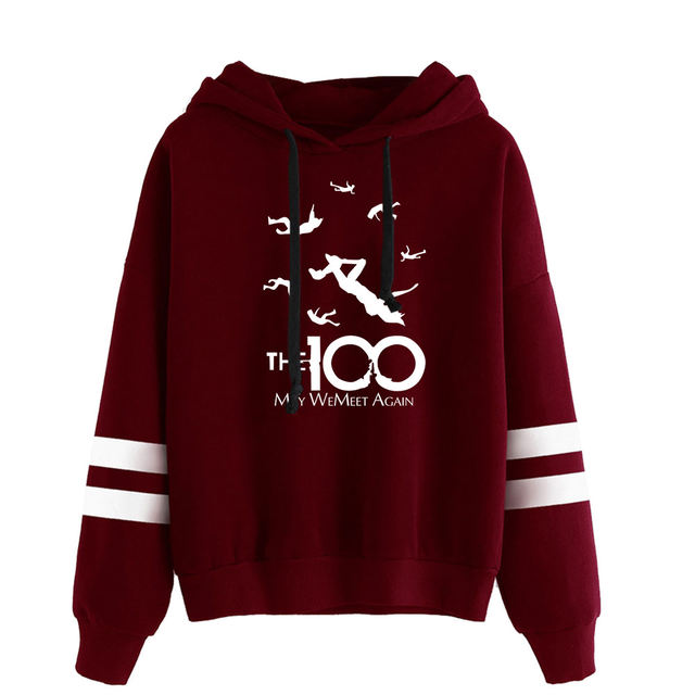 THE 100 THEMED STRIPED HOODIE (25 VARIAN)