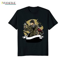 2019 Summer Fashion Hot Steampunk Sherlock Holmes with Magnifying Glass SS T-Shirt Tee shirt