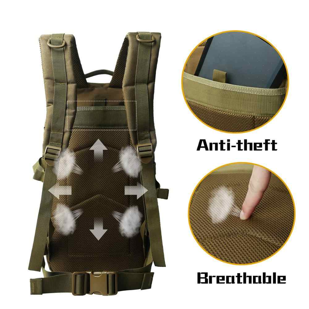 WAR GROUND 36L tactical Backpack multi-function hiking camping backpack outdoor backpack  hunting bag Camouflage Military bag