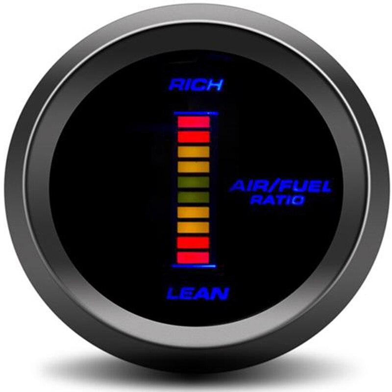 52mm Digitale Luft Kraftstoff Verhältnis Gauge Auto Auto LED kit turbo gauge sensor auto tachometer compteur voiture racing für audi tt