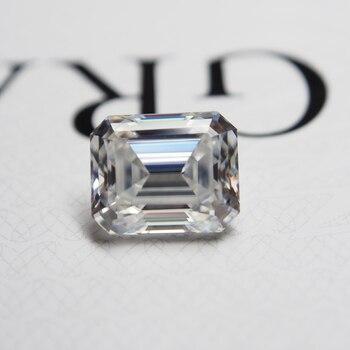 7*9mm Emerald Cut 2.23 carat VVS Moissanite Super White Loose Moissanite Diamond for Wedding Ring 3 5 7mm marquise cut vvs moissanite super white moissanite diamond 0 32 for ring making