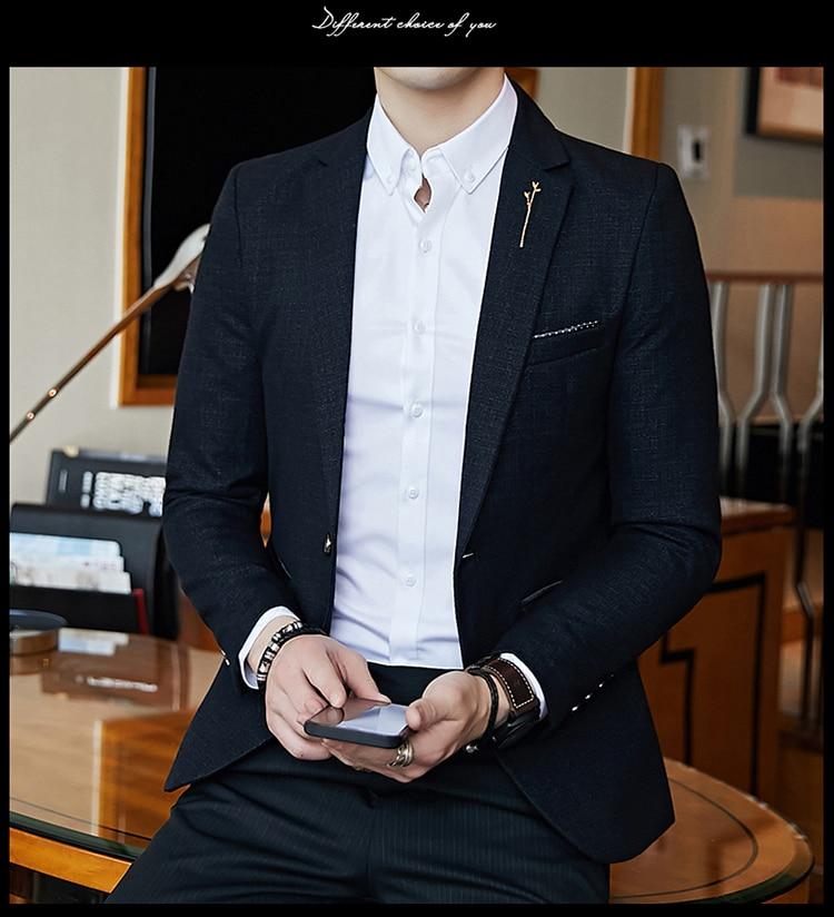 Hbd510fc4b94a423d8e543fcbdd799f4cq - Striped Blazer Mens Slim Fit Blazer Slim Masculino Business Casual Mens Stylish Blazer Spring Autumn Dot  Striped Blazers Mens