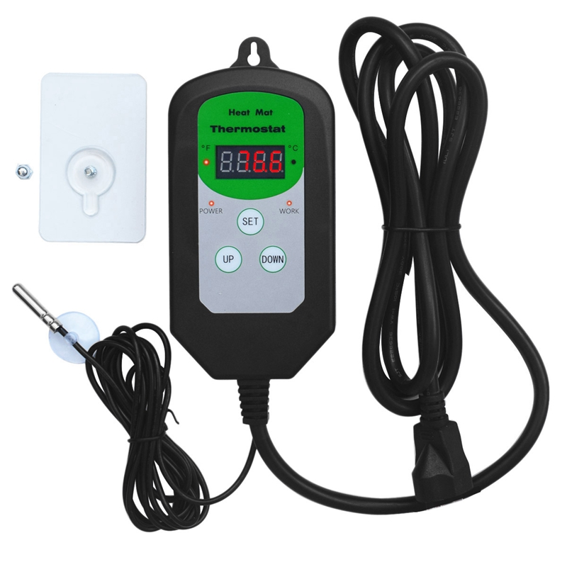 Digital Seedling Heat Mat Thermostat Temperature Controller For Seed Germination Reptiles And Brewing Setting Range Is 68-108