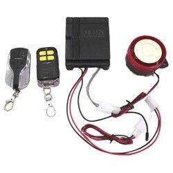 Samochód i motocykl uniwersalny 12V Alarm antywłamaniowy rowerowy i motocyklowy podwójny System zdalnego alarmowego