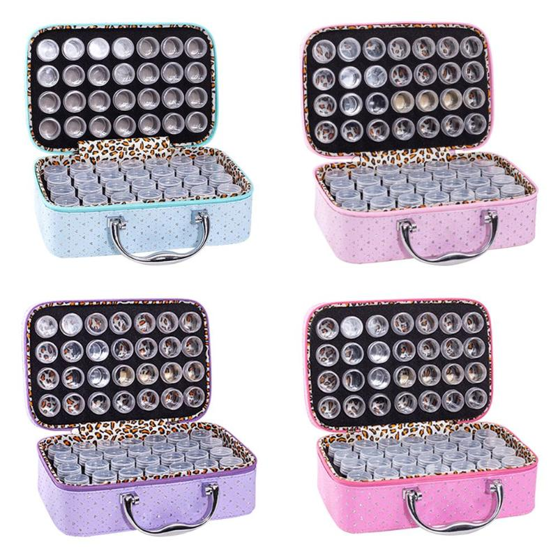 56 Bottles Diamond Painting Container Storage Zipper Hand Bag Carry Case Holder Cross Stitch Box Tool Embroidery Accessories
