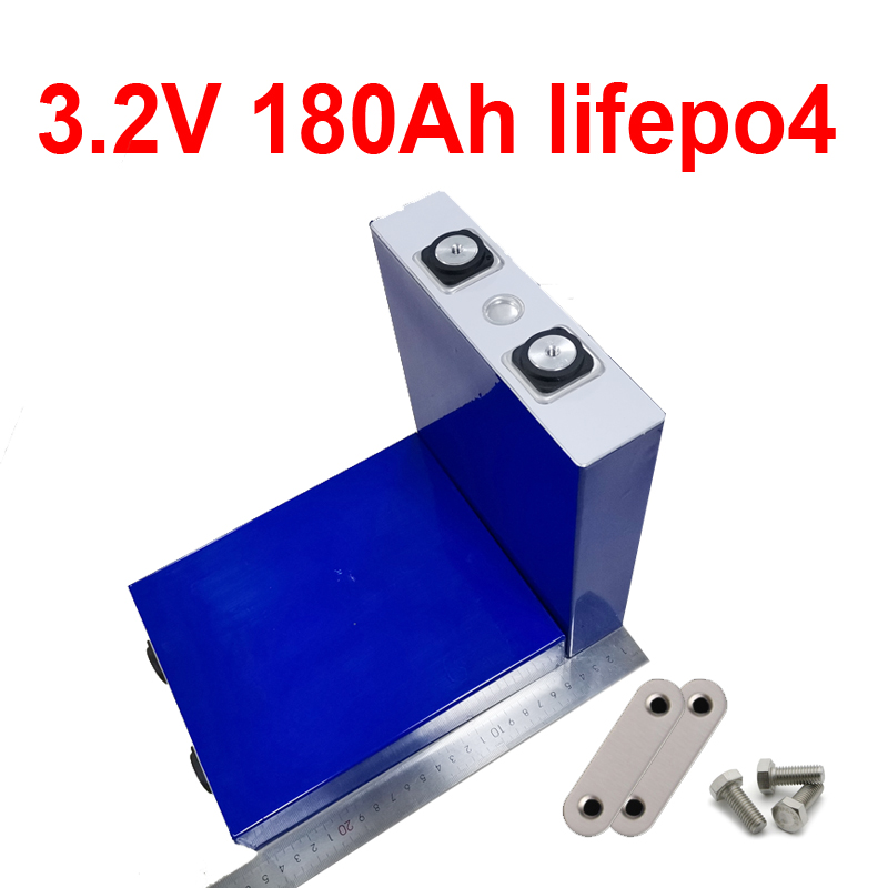 24pcs lithium 3.2V 180AH Lifepo4 battery For diy 12v 48V Solar Energy Storage boat backup power Forklift inverter