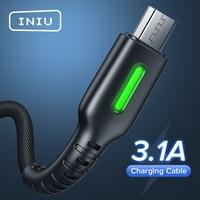 Cavo dati INIU 3.1A tipo C Micro USB caricabatterie rapido per telefono Samsung S21 S20 Huawei P40 P30 Xiaomi Redmi Oneplus LG