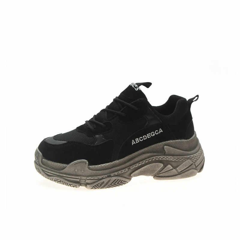 Sneakers vrouwen 2019 en najaar Mesh Ademend Hoogte Toenemende loopschoenen zapatillas mujer deportiva MM-63