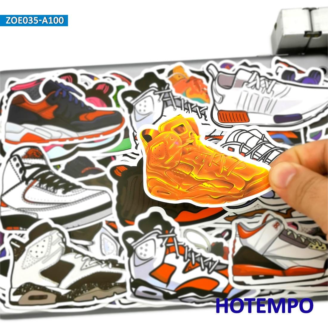 US Seller 60 basketball shoe sticker vinyl skateboard skateboard sticker pack