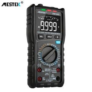 Image 4 - MESTEK multímetro Digital DM100C True RMS, 10000 cuentas con gráfico de barra analógica, amperímetro de voltaje CA/CC, corriente Ohm manual/auto