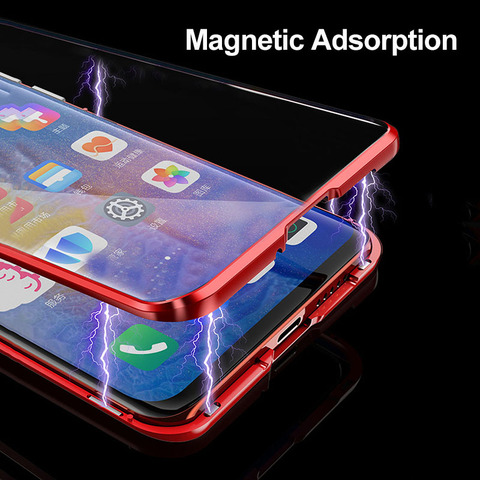 Cases For Huawei P30 P20 Lite Mate 20 Pro P Smart 2019 Case Magnetic Adsorption Metal Tempered Glass Back Cover For Huawei P30 Karachi
