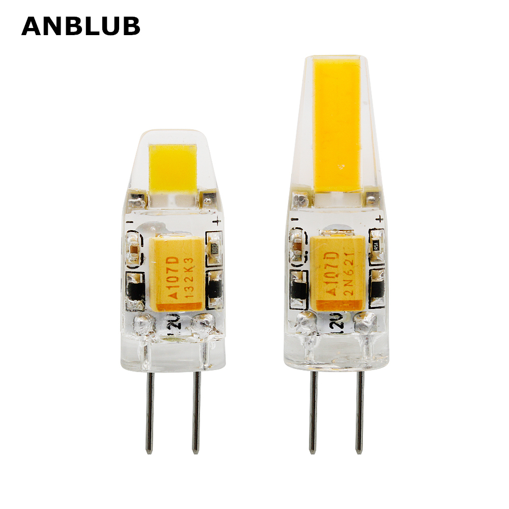 ANBLUB G4 LED COB Lamp 3W 6W Bulb AC DC 12V 220V Candle Silicone Lights Replace 20W 30W 40W Halogen For Chandelier Spotlight