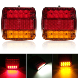 SUHU 2Pcs LED Car Trailer Truck Tail Light Brake Stop Turn Signal Lamp Bulb Brake Light Reverse Lamp Daytime Running Signal Lamp