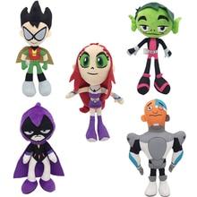 Dolls Cyborg Teen Titans Plush-Toys Starfire Gifts Stuffed Movie Soft Robin for 1pcs