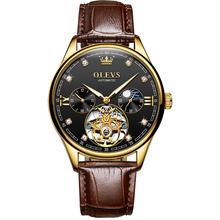 OLEVS luksusowej marki mężczyźni automatyczny zegarek sportowy zegarek szkielet mechaniczne zegarki wodoodporny zegar mężczyzna Relogio Masculino tanie tanio 3Bar CN (pochodzenie) Sprzączka Moda casual Samoczynny naciąg 24cm STAINLESS STEEL Odporne na wodę luminous hands 3601